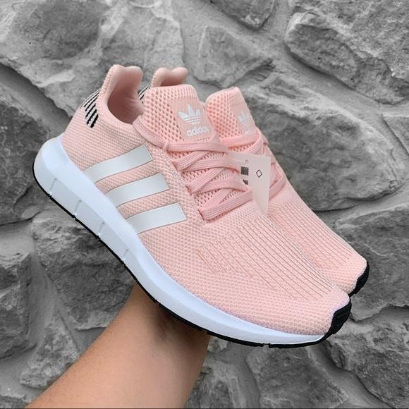 Adidas Women's Swift Run Running Shoe - Baby Pink